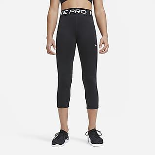 Nike Pro Legginsy capri dla dużych dzieci (dziewcząt)