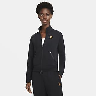 NikeCourt Tennisjacke mit durchgehendem Reißverschluss für Damen