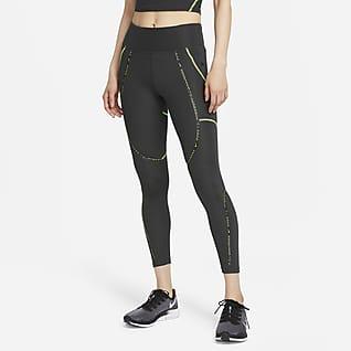 Nike Epic Faster 女款中腰滾邊跑步九分內搭褲
