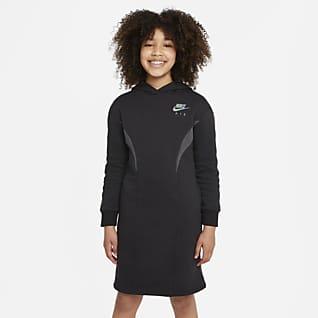 Nike Air Vestido de tejido Fleece para niña talla grande