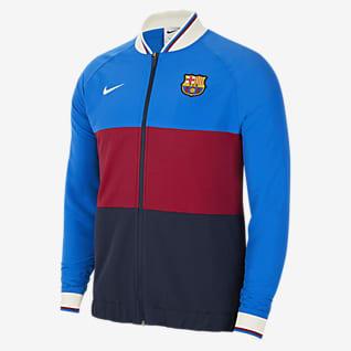 FC Barcelona Hosszú cipzáras férfi futball-melegítőfelső