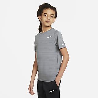 Nike Dri-FIT Miler Træningstrøje til større børn (drenge)