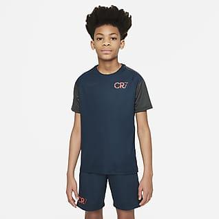Nike Dri-FIT CR7 เสื้อฟุตบอลแขนสั้นเด็กโต