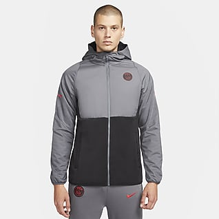 Paris Saint-Germain AWF Men's Hooded Woven Football Jacket