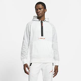 Nike Sportswear Air Max Fleecehettegenser med glidelås i halsen til herre
