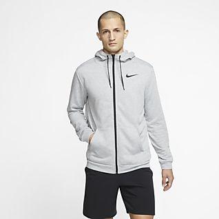 Nike Dri-FIT เสื้อเทรนนิ่งมีฮู้ดซิปยาวผู้ชาย