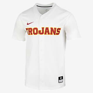 Nike College Dri-FIT Vapor Elite (USC) Men's Full-Button Baseball Jersey