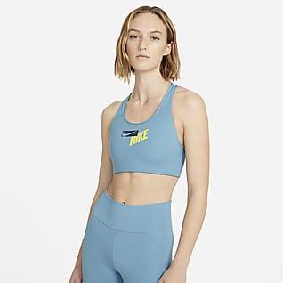 Nike Swoosh Bra deportivo con logotipo de media sujeción con almohadilla de una pieza para mujer