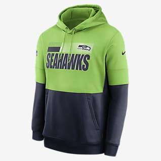 Nike Therma Team Name Lockup (NFL Seattle Seahawks) Men's Pullover Hoodie