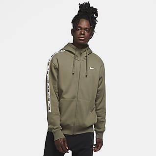Nike Sportswear Hoodie de lã cardada com fecho completo para homem