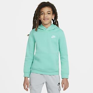 Nike Sportswear Club Sudadera con capucha sin cierre para niños talla grande