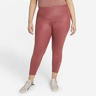 Nike One Women's Mid-Rise 7/8 Faux Leather Leggings (Plus Size)
