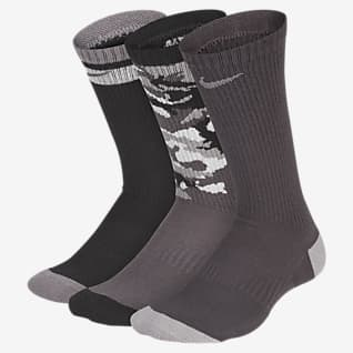 Nike Everyday Cushioned Calcetines deportivos de entrenamiento para niños (3 pares)