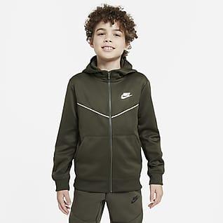 Nike Sportswear Hættetrøje med lynlås til store børn (drenge)