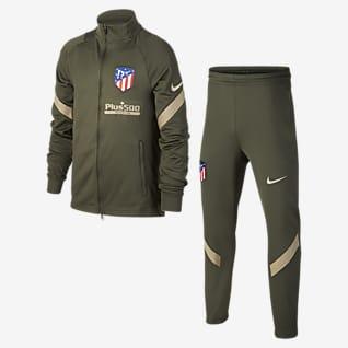 Koszulka Atlético Madryt Strike Dzianinowy dres piłkarski dla dużych dzieci
