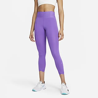 Nike One Luxe Icon Clash Women's Mid-Rise Crop Leggings