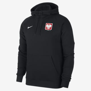 Pologne Sweat à capuche de football en tissu Fleece pour Homme