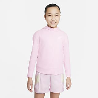Nike Sportswear 大童(女孩)全长拉链开襟针织连帽衫