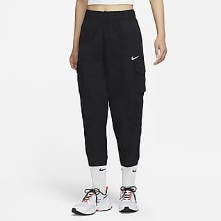 Nike Sportswear Essentials Curve 女子梭织高腰长裤