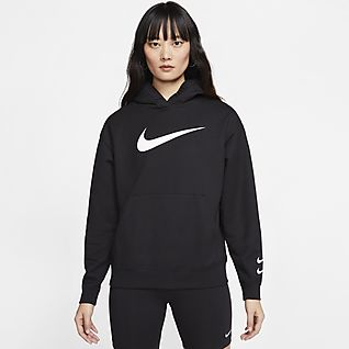Women's Black Hoodies & Sweatshirts. Nike SE