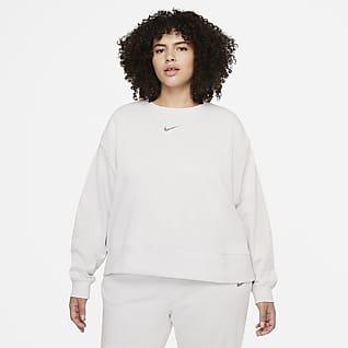 Nike Sportswear Collection Essentials Γυναικείο φλις crew σε φαρδιά γραμμή (μεγάλα μεγέθη)