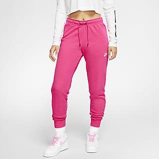 Nike Sportswear Essential Pantalones de tejido Fleece de tiro medio para mujer