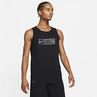 Nike Dri-FIT Pánské tréninkové tílko s grafickým motivem