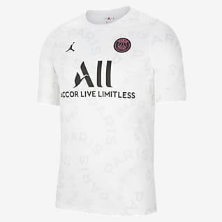 Paris Saint-Germain Męska przedmeczowa koszulka piłkarska z krótkim rękawem