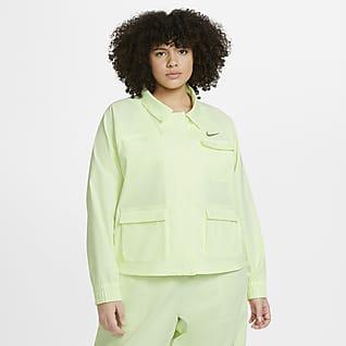 Nike Sportswear Swoosh Chamarra para mujer de talla grande
