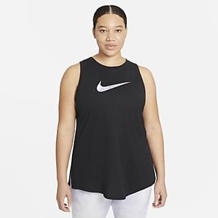 Nike Dri-FIT เสื้อกล้ามเทรนนิ่ง Icon Clash ผู้หญิง (พลัสไซส์)