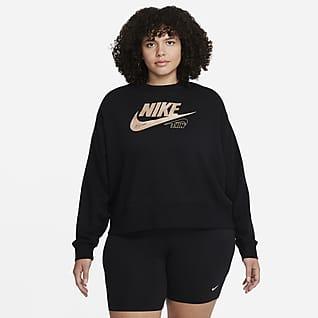 Nike Sportswear Club Sudadera de tejido Fleece para mujer (talla grande)