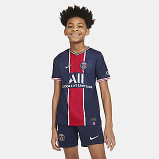Paris Saint-Germain 2020/2021 Stadium Home Fodboldtrøje til store børn