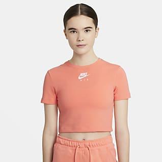 Nike Air Kortærmet crop-overdel til kvinder