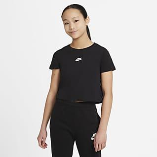 Nike Sportswear Kort T-skjorte til store barn (jente)