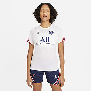 Paris Saint-Germain Strike Nike Dri-FIT Kurzarm-Fußballoberteil für Damen