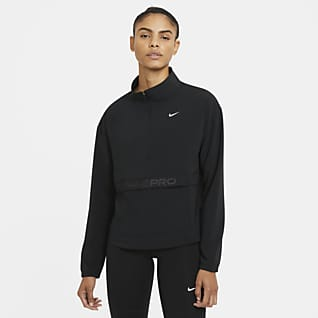 Nike Pro Γυναικείο αναδιπλούμενο υφαντό πανωφόρι Nike