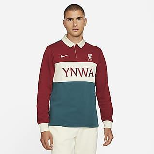 Liverpool FC Мужская рубашка-поло с длинным рукавом для скейтбординга