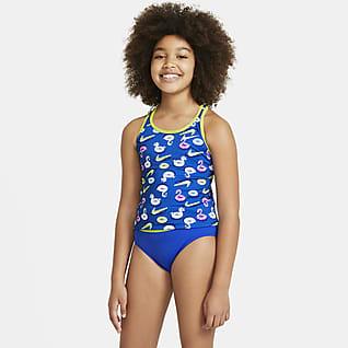 Nike Conjunto de tankini con espalda deportiva para niñas talla grande