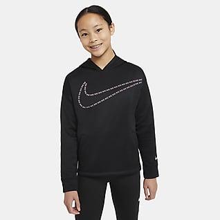 Nike Therma Big Kids' (Girls') Graphic Pullover Training Hoodie