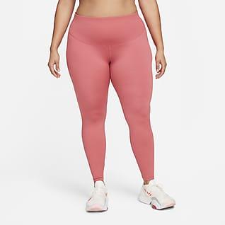 Nike One Leggings med mellemhøj talje til kvinder (plus size)