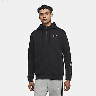 Nike Sportswear Tam Boy Fermuarlı Fleece Erkek Kapüşonlu Üst