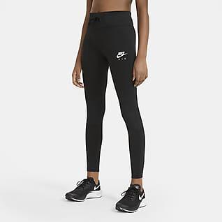 Nike Air Leggings de entrenamiento para niñas talla grande