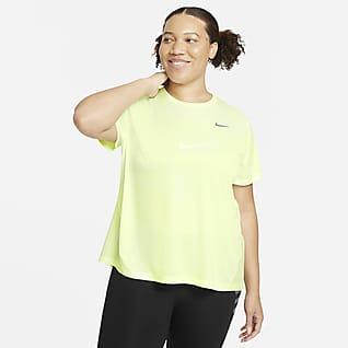 Nike Miler Kortærmet løbetop til kvinder (Plus size)