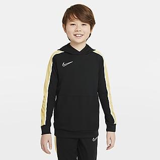 Nike Dri-FIT Academy Sudadera con gorro de fútbol sin cierre para niño talla grande