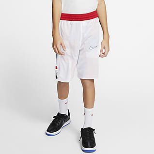 Nike Elite Shorts reversibles de básquetbol para niño talla grande