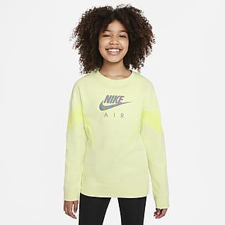 Nike Air Mikina zfrancouzského froté pro větší děti (dívky)