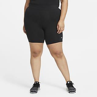 Nike Sportswear Essential Bike-Shorts mit mittelhohem Bund für Damen (große Größe)