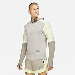 Nike Dri-FIT Trail Element Camisola de running para trilhos com fecho até meio para homem