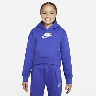 Nike Sportswear Club Fleece Sudadera con capucha para niñas talla grande