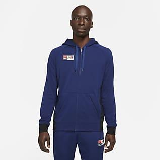 Nike F.C. Sudadera con capucha de fútbol de cierre completo para hombre
